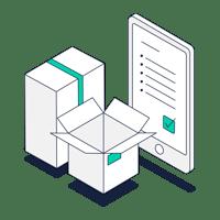 Retail logistics icon