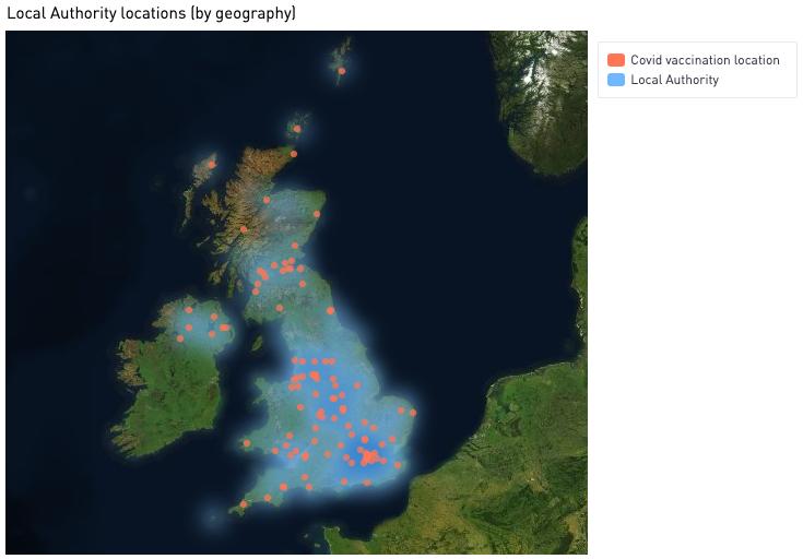 7bridges simulation - LA and vaccination site heatmap